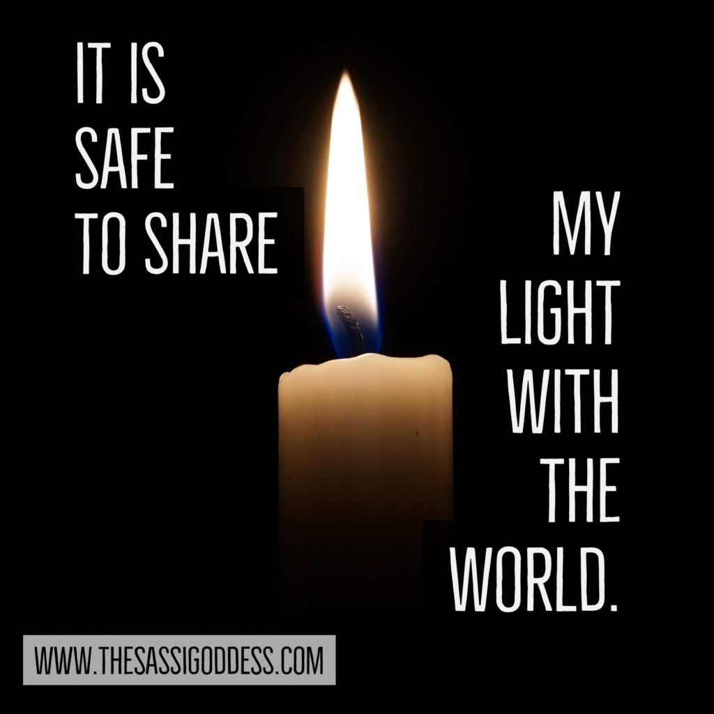 www.thesassigoddess.com It is safe to share my light with the world.